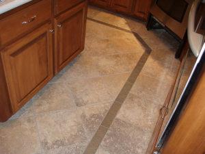 ceramic tile install in bathroom